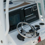 close up of a center console